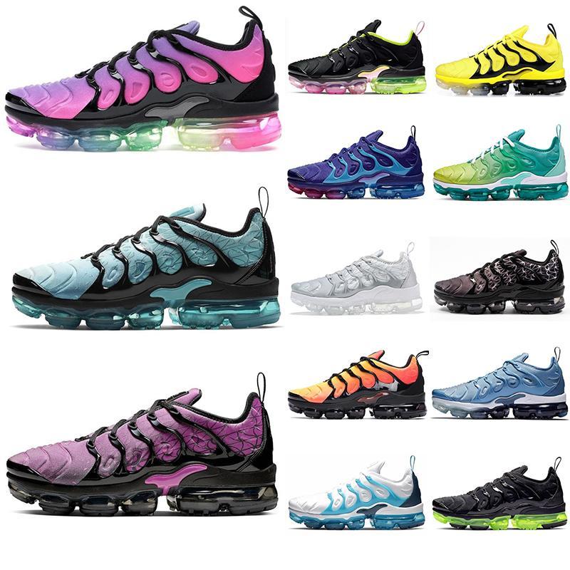 Yeni TN Artı Gerçek Volt Ayakkabı Medyum Pembe Aktif Fuşya Ruh Teal maxes Yastık Erkek Eğitmenler Moda Spor Spor ayakkabılar 36-45 Koşu Be