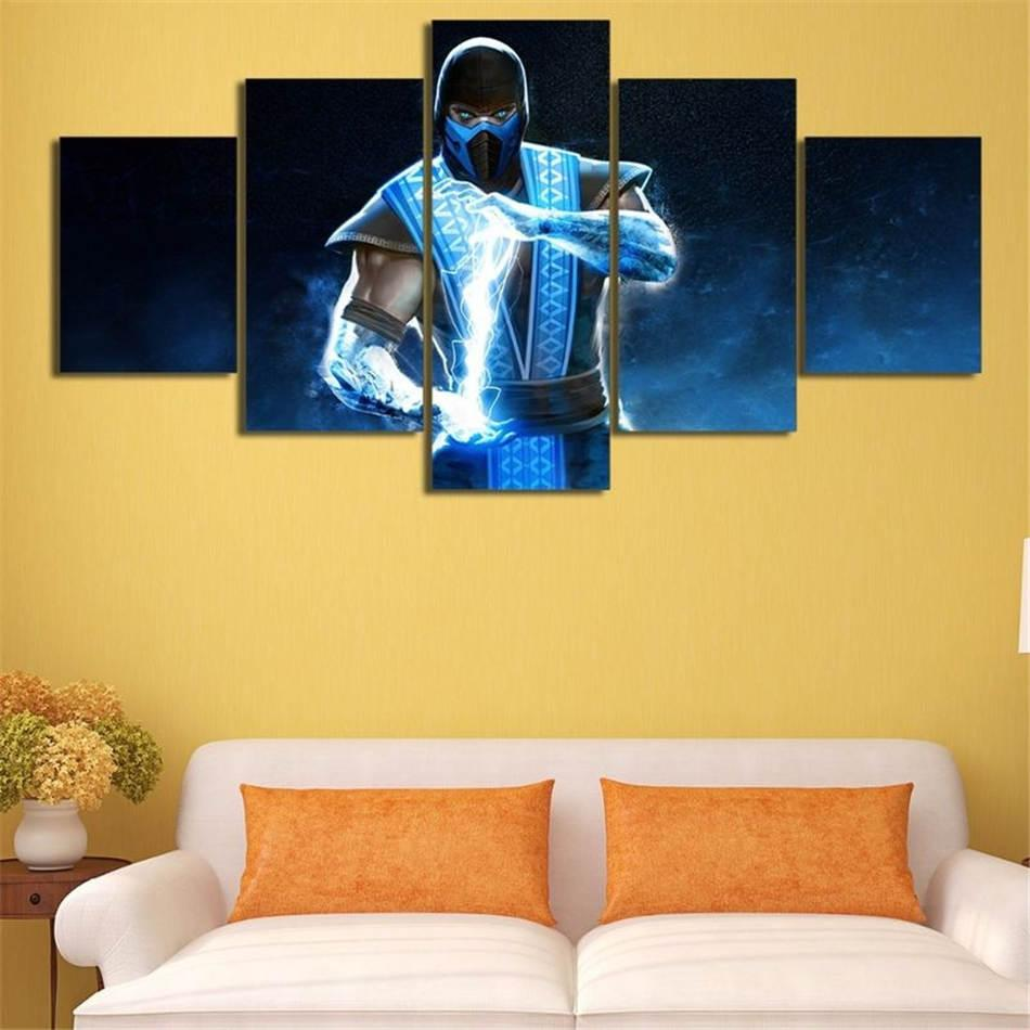 Mortal Kombat,5 Pieces HD Canvas Printing New Home Decoration Art Painting/(Unframed/Framed)