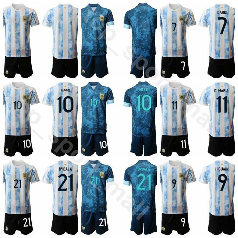 2020 2020 2021 Men 10 Lionel Messi Jersey Argentina Soccer Set 21 Paulo Dybala 9 Sergio Aguero 22 Lautaro Martinez Football Shirt Kits From Top Sport Mall 12 01 Dhgate Com