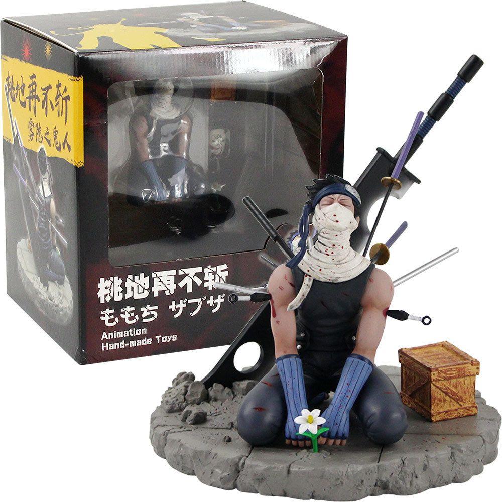 19cm Naruto ação figura momochi zabuza pvc japonês anime naruto colecionável modelo brinquedos desktop decoração mx200319