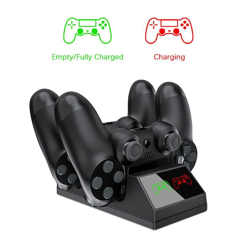 PS4 Regolatore di carica USB Charging Dock Station con la luce del LED per Sony Playstation 4 / PS4 / Pro / Slim wireless controller