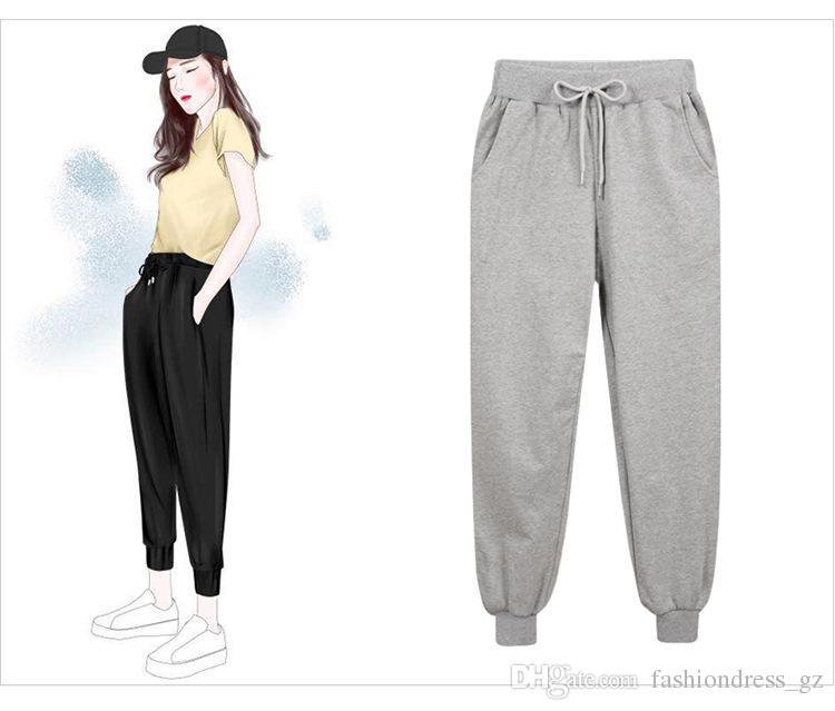 Women Elastic Waist Long Pants Maternity Oversized Casual Loose Harem Trousers