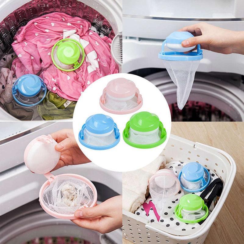 Startseite Schwimm Lint Haarfänger Netztasche Waschmaschine Wäschefilterbeutel Filtration Haarentfernung Werkzeuge Haus-Reinigungs-Werkzeug