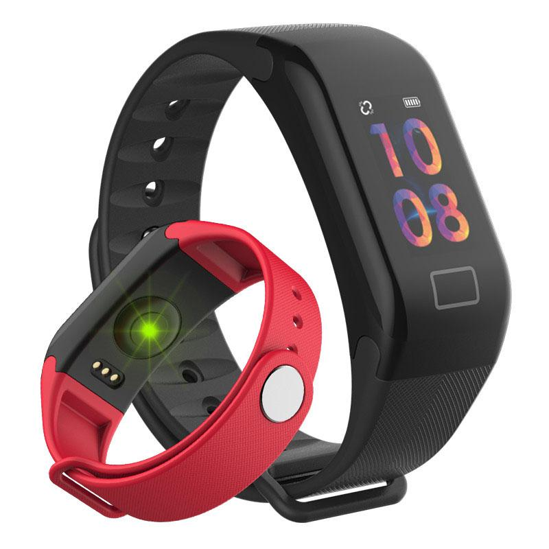 F1S الذكي سوار الأكسجين الدم مراقبة الذكي معدل ضربات القلب مراقبة مقياس اللياقة البدنية متتبع ساعة يد لياقة آلية iPhone iOS