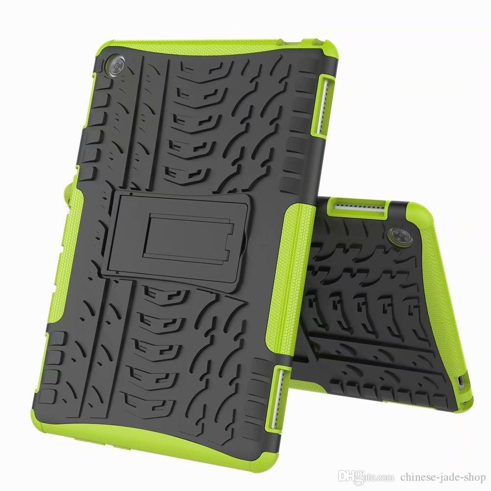 Hybride Kickstand impact accidenté robuste robuste TPU + PC couverture pour Huawei MediaPad T3 10 T5 M5 10.8 M5 Lite M3 Lite 10.1 100pcs