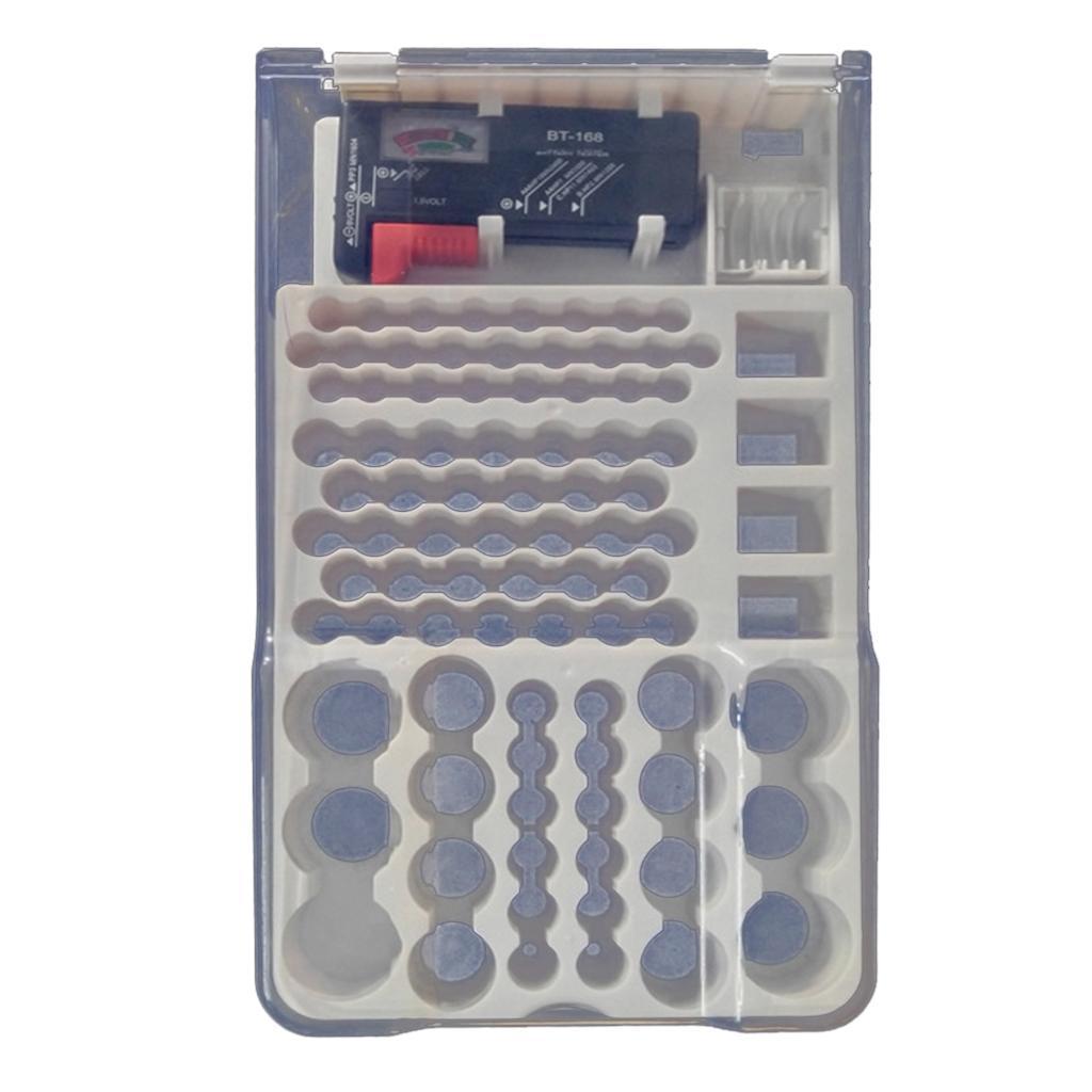 93Pcs بطارية منظم تخزين حالة تستر مع إزالة مختلف الأحجام
