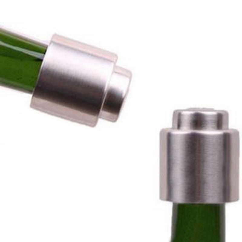 Edelstahl-Wein-Stoppers Vakuum versiegelt Weinflaschenverschlüsse Stecker Pressen Typ Champagne Cap Lagerung HHA991