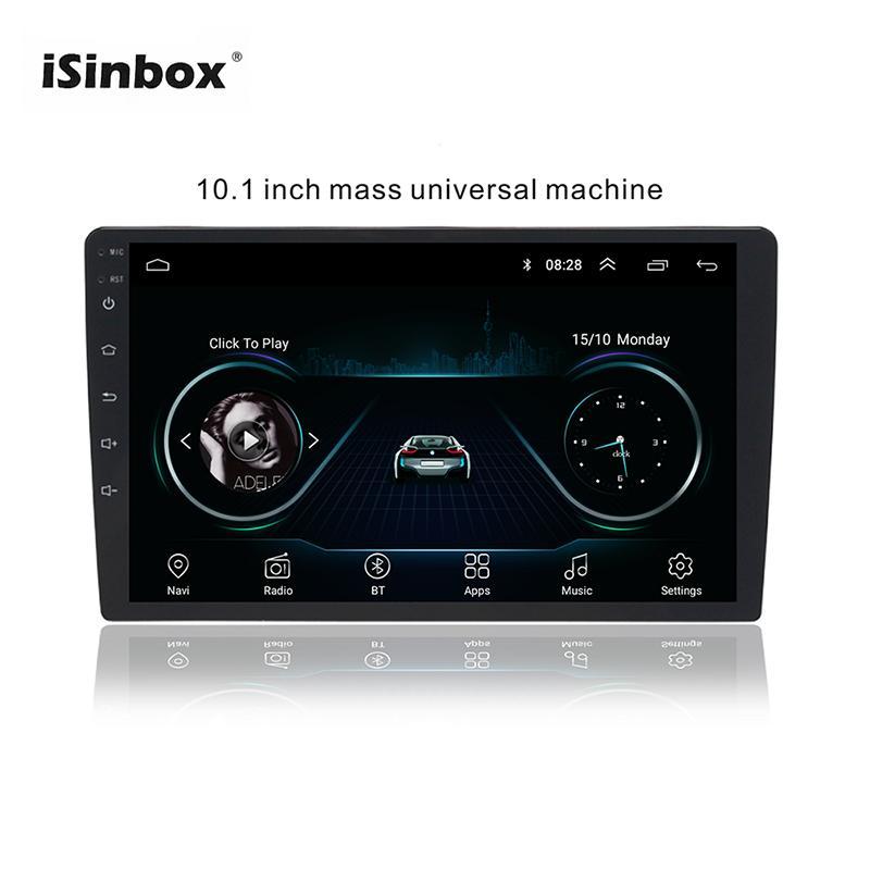 ISINBOX Andorid Radio 9,1 Car 1 / 16GB 2 / 32GB Chefe Unidade Multimedia Player GPS Wifi Auto Radio Coche Bluetooth FM Imagem Invertendo