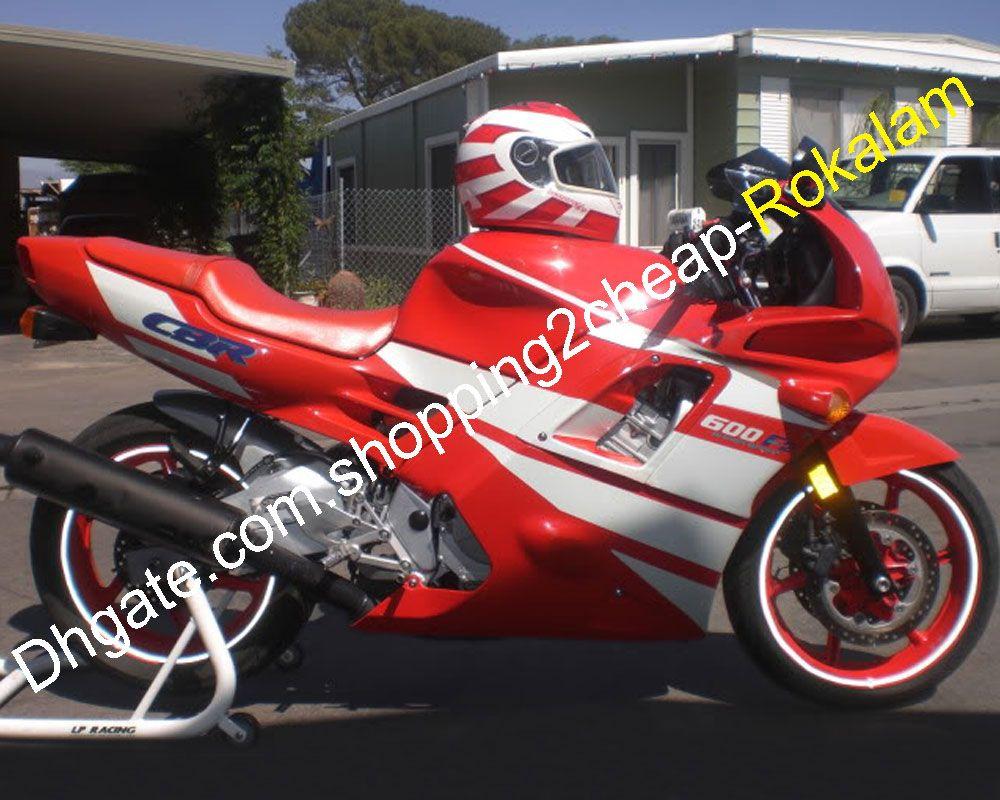 Kırmızı Beyaz Fairing F2 Honda Için Motosiklet Seti CBR600 CBR 600F2 CBR600F2 1991 1992 1993 1994 Motosiklet ABS Kaporta Parçaları Aftermarket Kiti