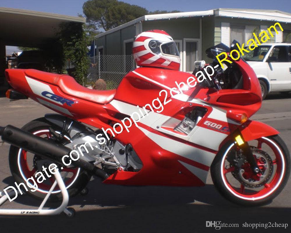 Red White Feeding F2 para Honda Motorcycle Set CBR600 CBR 600F2 CBR600F2 1991 1992 1994 Motorbike ABS PEÇAS PARTE MARKET