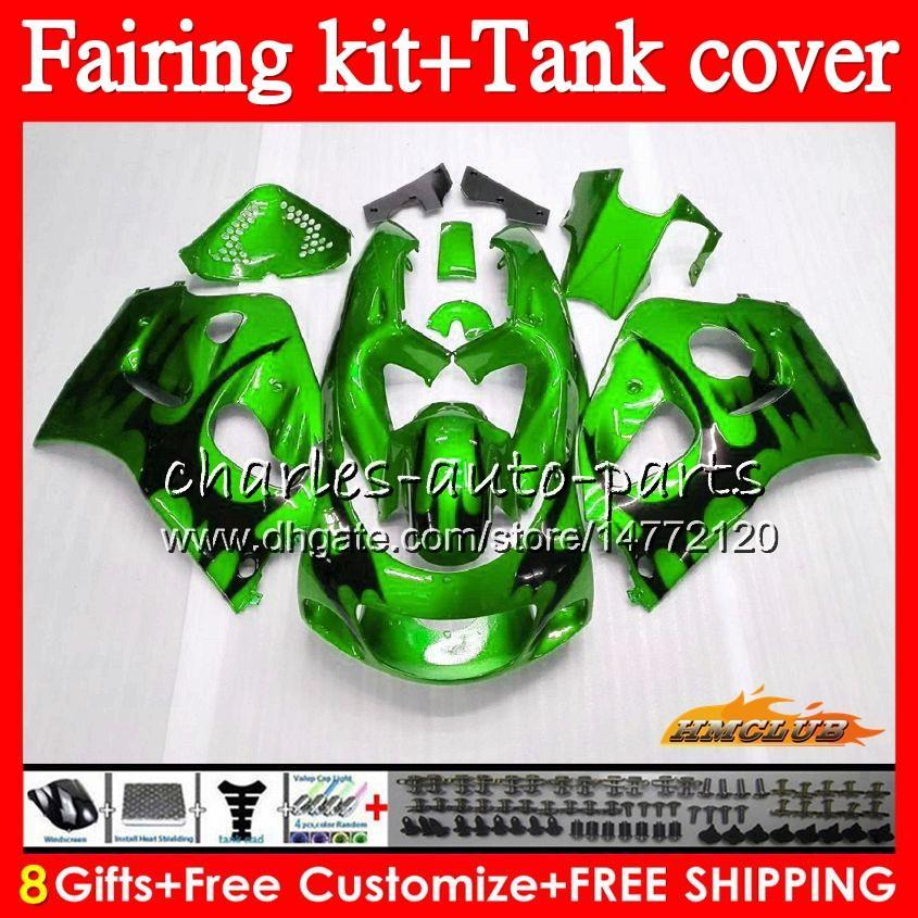 Кузов + бак для SUZUKI SRAD GSXR 600 750 GSX R750 R600 GSXR750 64HC.51 GSXR600 96 97 98 99 00 1996 1997 1998 1999 2000 обтекатель зеленого пламени