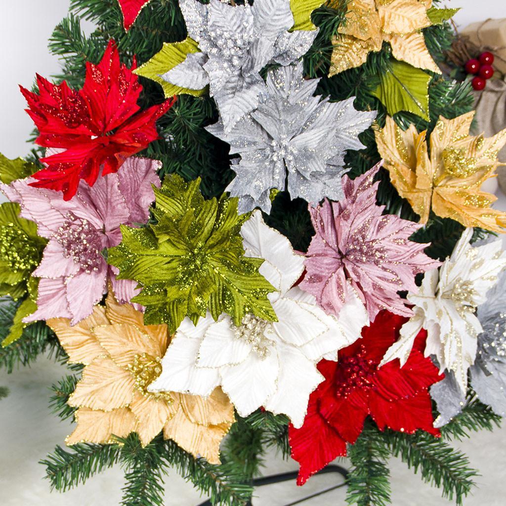2019 neue schöne künstliche dekorative künstliche Blumen Weihnachtsbaum Dekoration hohe Qualität