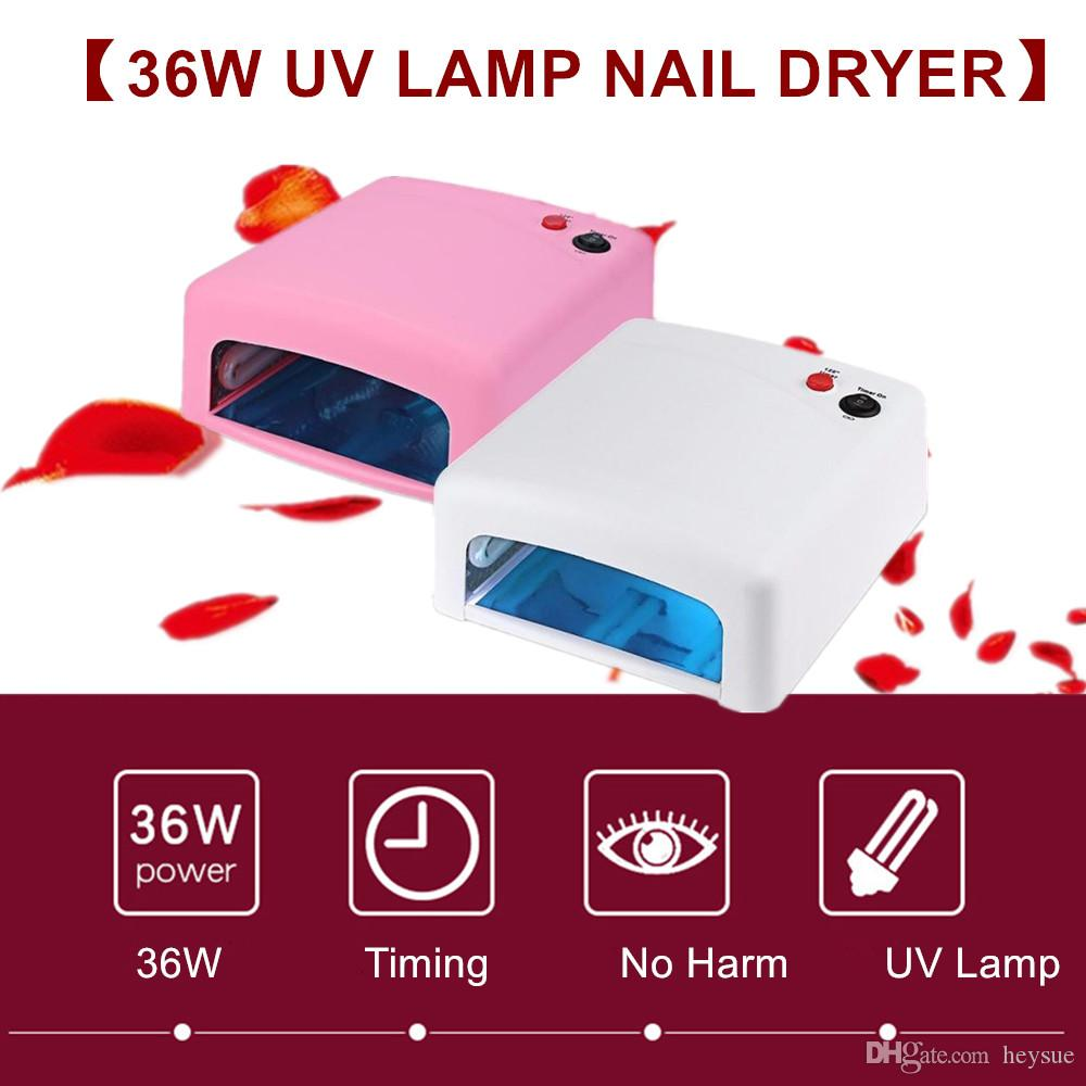 36W UV Lamp Mini Nail Dryers Pink White UV Nail Lamp Curing for UV Nail Gels Polish Manicure Art Tools Hot Sale 818 Lamp For Nails