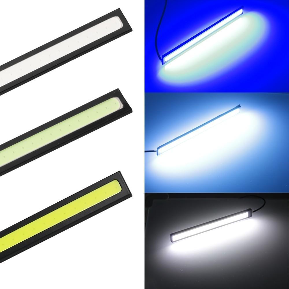Led Lamp 1 Pezzo 17 centimetri universale Daytime Running Light COB dell'automobile LED della lampada si illumina esterne Auto impermeabile Car Styling