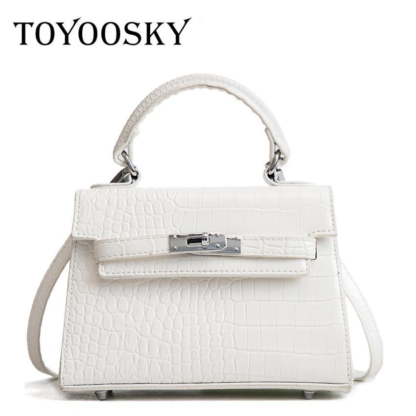 TOYOOSKY 2019 novo padrão de tendência de moda de grãos de Crocodilo fivela quadrado bolsa de ombro em toda a bolsa das senhoras selvagens sacos crossbody