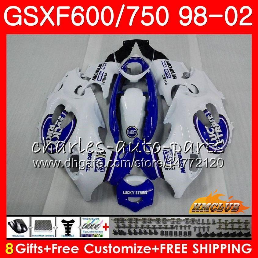 Body For SUZUKI KATANA Lucky blue GSX600F GSXF750 1998 1999 2000 2001 2002 2HC.43 GSXF 750 600 GSX750F GSXF600 98 99 00 01 02 Fairing kit