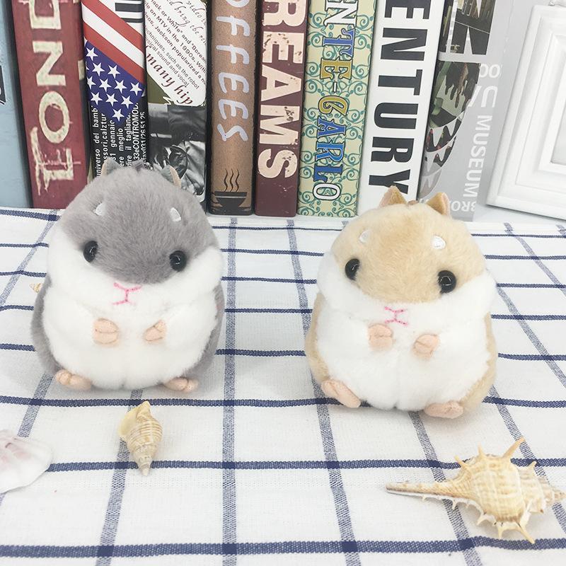 60pcs hámster llaveros Niños Kawaii lindo de la felpa del hámster bolsa de dibujos animados de Animales Pequeños hámster muñecas ratón relleno colgante recuerdos CCA11803