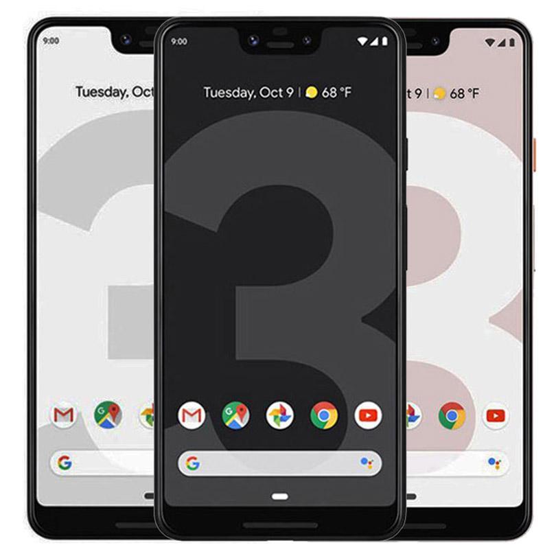 Refurbished Original Google Pixel 3 5.5 inch Octa Core 4GB RAM 64GB 128GB ROM NFC Quick Charge 3.0 4G LTE Unlocked Smart Phone Free DHL 1pcs