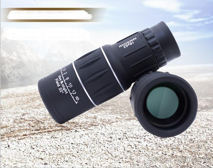 16X52 Single Telescope Outdoor Telescope with Non-Infrared High Definition Low Light Level Night Vision Mobile Phone