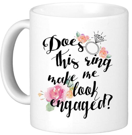 DHL macht diesen Ring lassen Sie sich verlobt Lustige Kaffeetasse Keramik Milch-Becher Lustige Teetasse Trinkgefäße d1 Neuheit-Geschenk-8 * 9.5cm