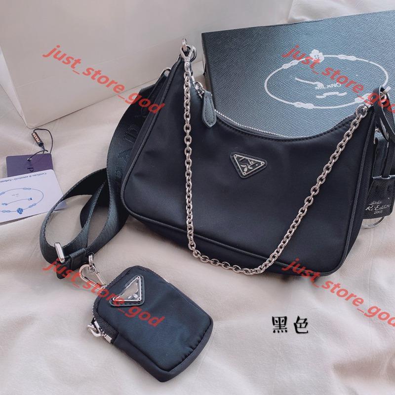 Prada xshfbcl Bayanlar omuz çantası, el zincir çanta presbiyopi haberci cüzdan tasarım çanta toptan tuval bayanlar