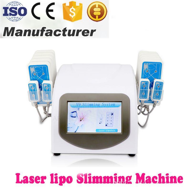 El más nuevo diseño de alta calidad de la grasa 5mW 635nm-650nm Pérdida Lipo láser 14 pads de quema de grasa de la celulitis Eliminación de belleza cuerpo que forma la máquina para adelgazar