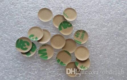 50 adet / grup 3D 11mm alüminyum Araba logosu Anahtar Amblem düğmesi 3 M Sticker için BMW Katlanır Tuşları