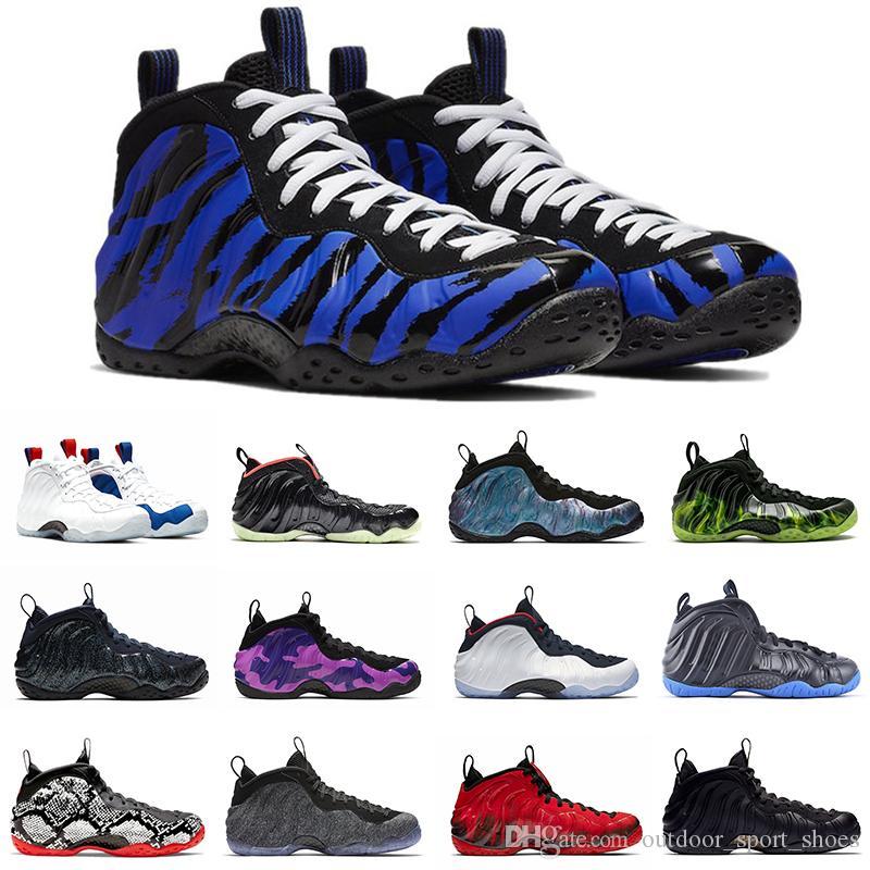 Alta calidad Penny Hardaway blanca zapatos de baloncesto de los hombres de la espuma Una destrozada EE.UU. Dr. Doom Tech Fleece para hombre formadores de diseño deportivo zapatillas de deporte