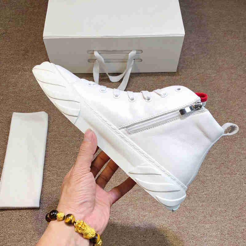 Klasik tasarımcı marka erkekler platformu kaliteli rahat spor ayakkabıları fermuar eur 38-45 ile kurdele deri yarım bot çizgili ACE