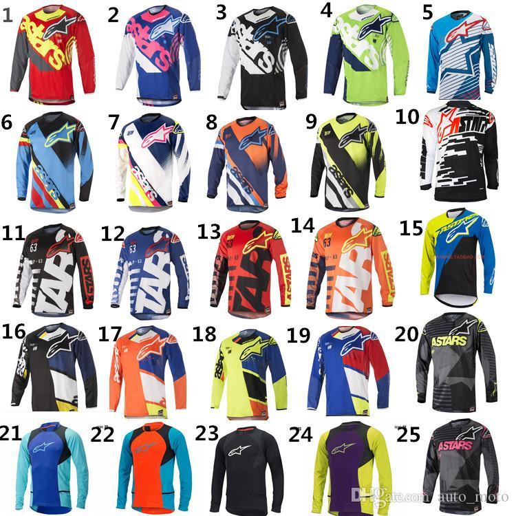 MOTO GP Bike Bekleidung Cycling Series Jersey Long Sleeve Top Downhill Racing Motorrad Mountainbike Motocross Offroad-Fox TLD-T-Shirt
