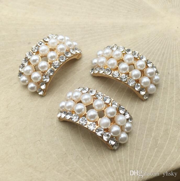 20pcs lot Craft Pearl Crystal Rhinestone Buttons Flower Round Cluster Flatback Wedding Embellishment Jewelry Craft