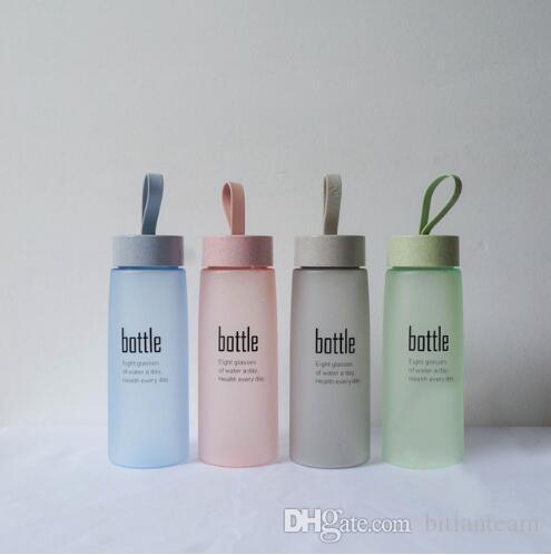 Garrafa de água Esfoliante Esfoliante Esporte De Plástico Beber Minha Garrafa Portátil Moda Drinkware Garrafas de Passeio para Os Amantes H1094