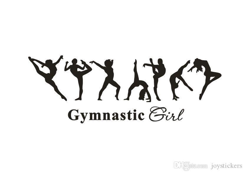 Gymnast Gymnastics Vinyl Decal Sticker D