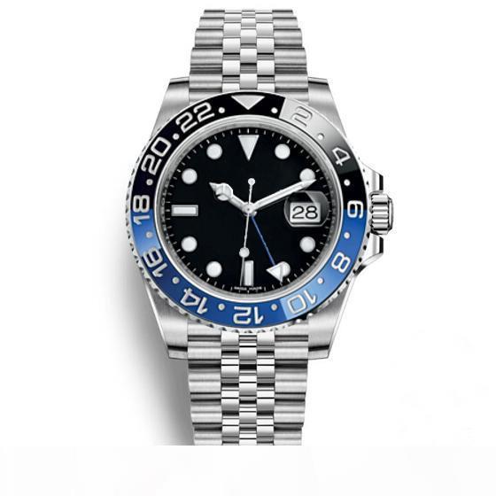 Varrer relógios Jubilee automática Modell Moda Relógios Mens GMT Assista Mens Watch Orologio di Lusso Orologi da Uomo Blue Black Relógio de pulso