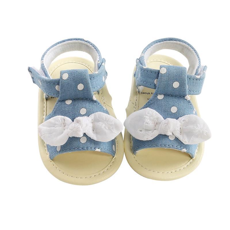2020 Verão Bebés Meninas Princesa Sandália bonito bowknot respirável Anti-Slip Shoes Sandals Criança suave sola Sapatos 0-18 Meses