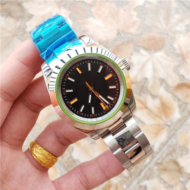 Top Quality Mens Watch Mulheres 116400 Sólida de Aço Inoxidável Mens Movimento Automático 40mm Mens Designers Relógios Relógio Esporte Atacado