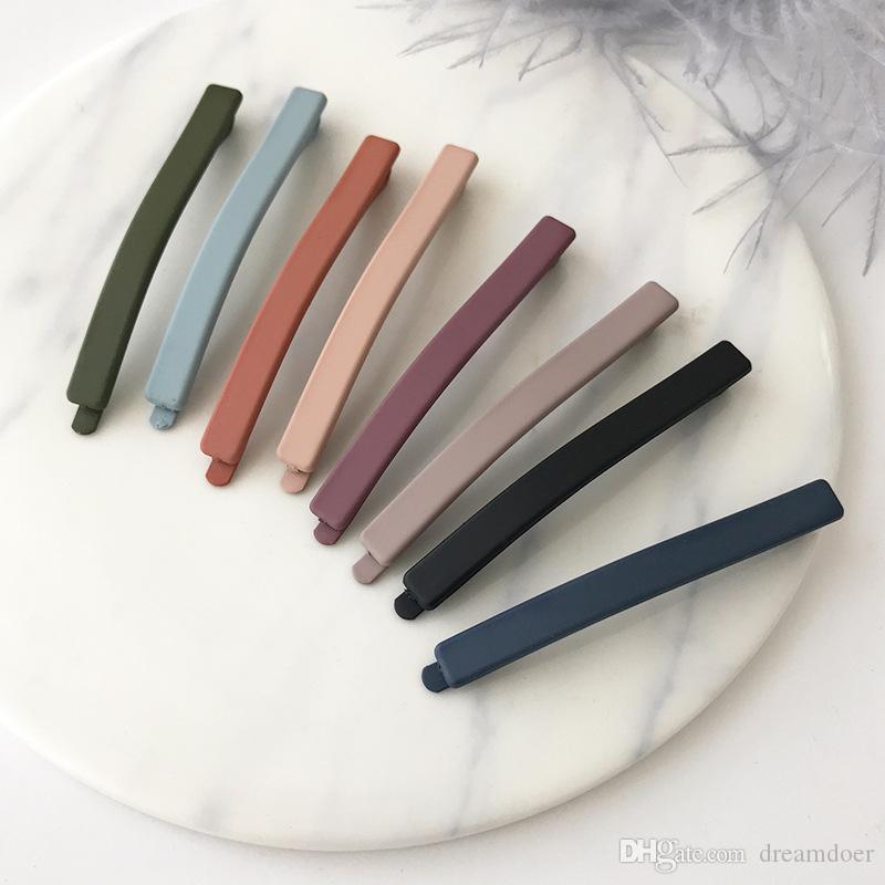 Nuovo arrivo popolare europeo Stati Uniti d'America di vendita caldo forcine Matte clip di capelli colorata laterale perni di capelli per le donne Ragazze