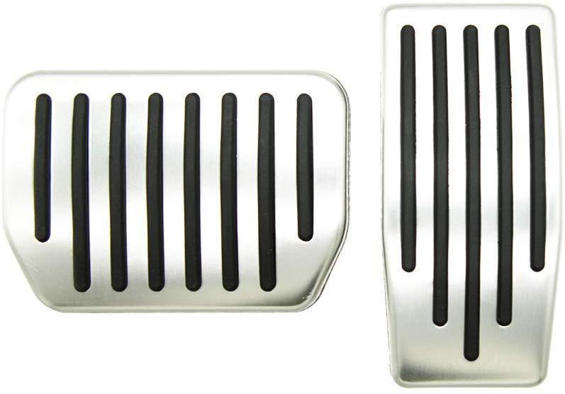 모델 3 테슬라 미끄럼는 성능 풋 페달 패드, 자동 알루미늄 페달 커버 (2 장 세트)