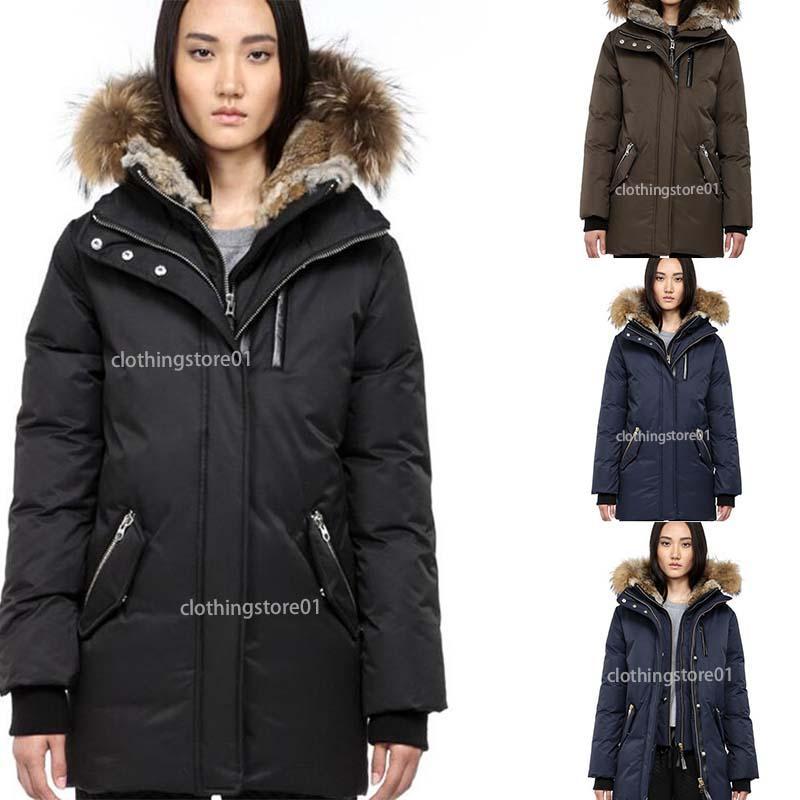 Adatti a nuovo delle donne Canada Piumino lungo Piumini Donna esterna riscaldata piuma d'oca inverno outwear Giacche Parka formato S-3XL