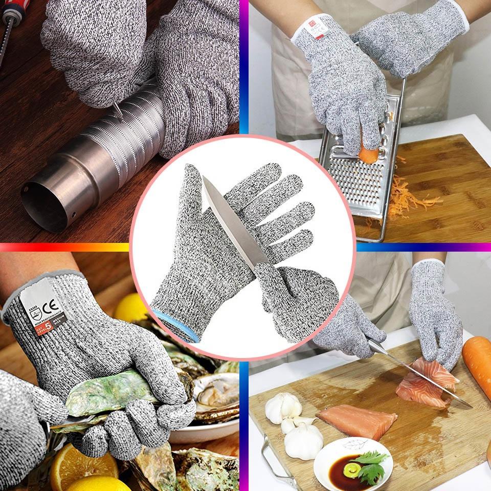 2019 الجديدة قفازات سلامة مكافحة قطع قفازات قطع والدليل على الطعنة مقاومة الفولاذ المقاوم للصدأ أسلاك شبكة معدنية مطبخ Butche جولف التدريب الايدز