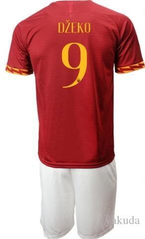 a personalidade 19-20 casa 10 Totti personalizou o jérsei de futebol com o short, costume 27 PASTORE Florenzi 24 camisas ajustadas do futebol do futebol de DZEKO 9 Uniformes