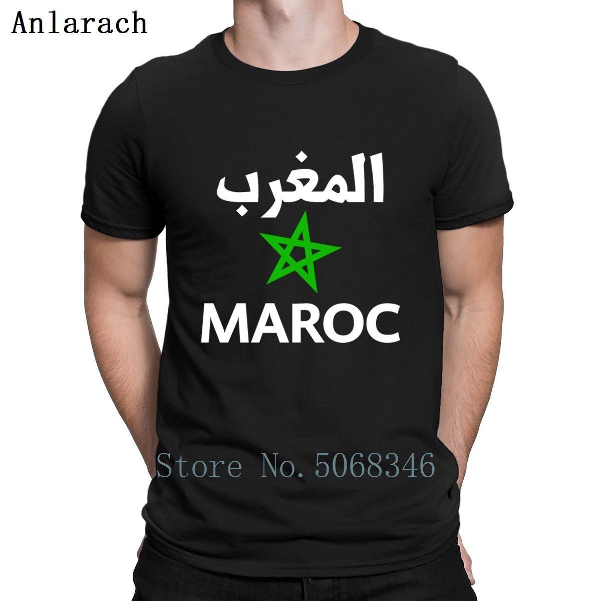 Tee Shirt Марокко Maroc Магриба Хамса Футболка Natural O шеи хлопка Одежда Смешной Designs весна осень Famous рубашка