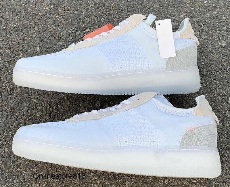 Vendita calda White Sail Low 1 uomo skateboard Designer Scarpe da ginnastica womens Comfort pallacanestro Bassi una mette in mostra vengono con la scatola superiore
