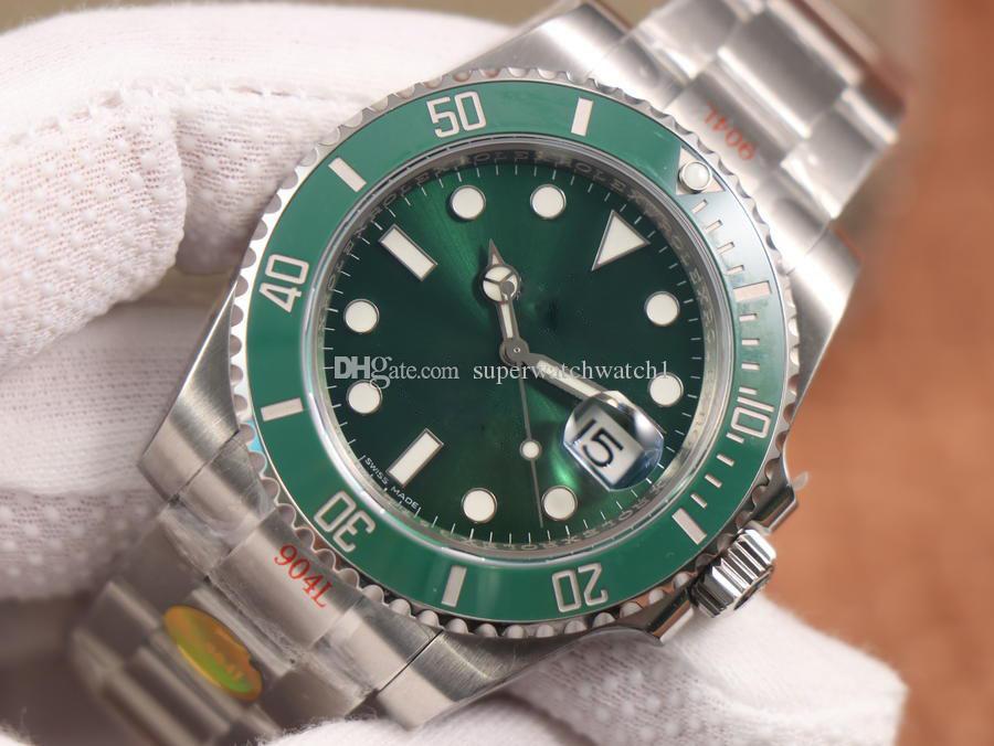 N V10 orologio Lusso diâmetro 40 milímetros de aço fina 904L boca anel cerâmico 2836/3135 movimento relógios desenhador