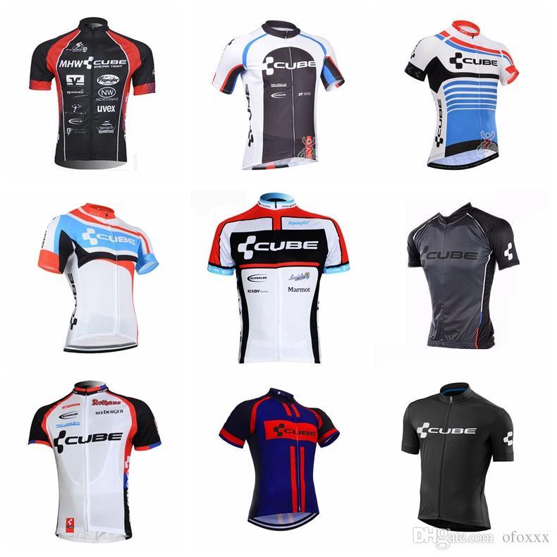 CUBE team su misura Maglia manica corta da ciclismo moda Jersey sportivo sportivo ad asciugatura rapida traspirante 54015