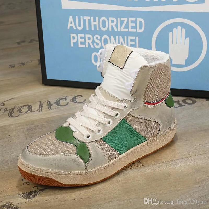 Designer Lady Lady Flat Casual Boots Viaggio Leather Lace-Up Sneaker Lettere Donna Scarpe 100% Cowhide Moda Uomini Gym Gym Running High Top Scarpe da donna Grande taglia 36-41-42-45 US4-US11