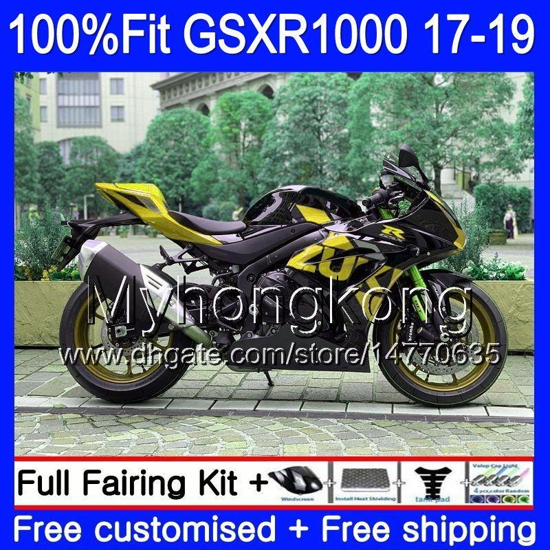 Инъекционная OEM для Suzuki GSX-R1000 K17 GSXR Golden BLK 1000 17 18 2019 331HM.106 GSX R1000 L7 L8 GSXR-1000 GSXR1000 2017 2018 19