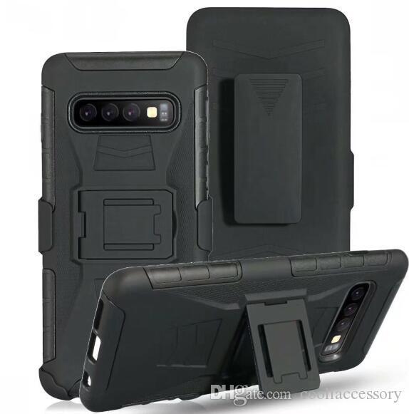 For Samsung Galaxy S10 Plus S10E S9 S8 S7 S6 Edge S5 NOTE 3 4 5 8 9 Clip Belt Stand Armor Hard PC Case Shockproof Defender Swivel Cover 1pcs