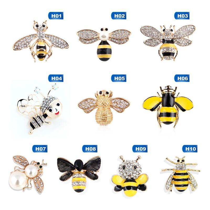 Kristall Strass und Enameled Bee Hornet Brosche-Stifte für Frauen-Modeschmuck-Kostüm-Zusatz-Geschenk