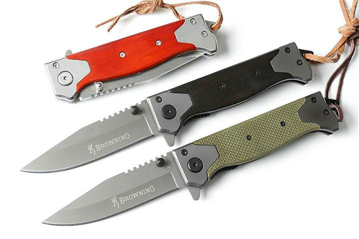Browning B60 5CR15MOV Taschen-Satin-kampierende Messer-Jagd Klappmesser Weihnachtsgeschenk Messer Adker für Mann 1pcs Freeshipping